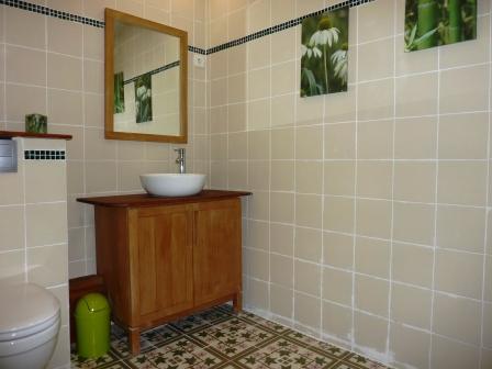 Gîte Le Tineiral à Néffiès Les Lavandes salle de bains