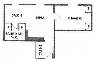Gîte Le Tineiral à Néffiès Les Romarins Plan du gîte.