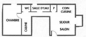 Die Ferien Wohnung Les Bruyeres, ist 55m² groß,