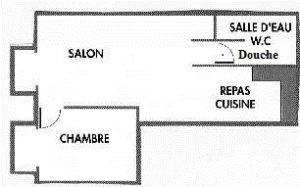 Le Gite Les Lavandes fait 40 m²