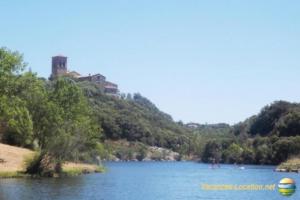 Un soir d été au bord du lac es Olivettes à Vailhan avec Florence Anguera.